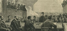 Photo:Interior of historic Ballinrobe Courthouse where many significant cases were heard